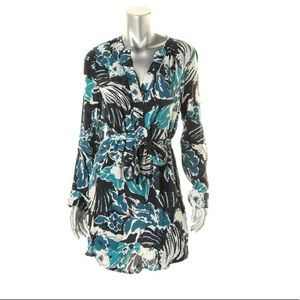 Sanctuary Blue Pullover Printed Shift Casual Dress